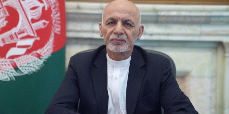 Ashraf Ghani / Afghanistan August 14, 2021. Afghan Presidential Palace/Handout via REUTERS/Files