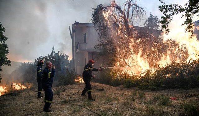 Incendiu in Grecia - Evia